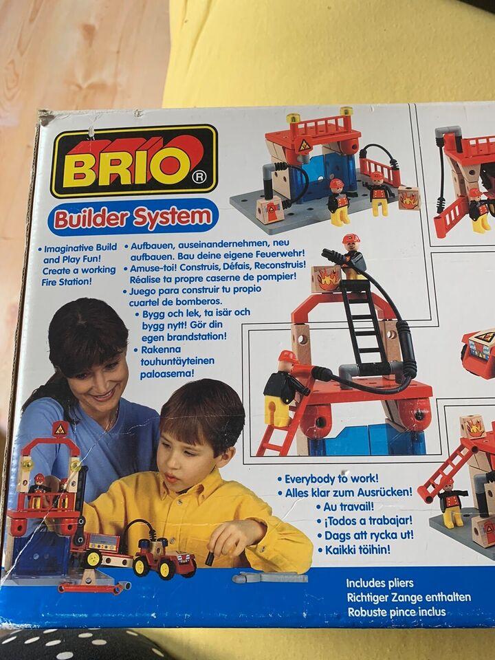 Byggesæt, Byggesæt med mand brand station , BRIO
