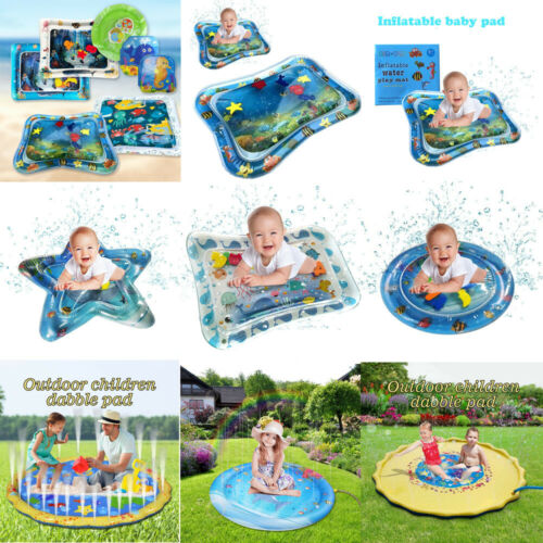Baby Inflatable Baby Water Mat Fun Activity Play Center Pad Children /& Infants