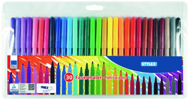40 /%! 30 Stylex Fasermaler 2 mm Spitze 30 verschiedene Farben