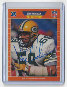 1989-PACKERS-John-Anderson-signed-card-Pro-Set-128-AUTOGRAPHED-AUTO-Green-Bay