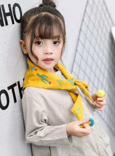 Kids Warm Scarves Cotton Neck Warmers Knitted Cartoon Shawls Winter Wrap Gifts