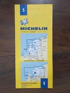MICHELIN FOLDING SHEET TOURIST MAP 5 GRONINGEN ALKMAAR eBay