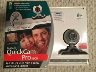 Logitech Quickcam Pro 4000 Web Cam Factory Sealed New In Box