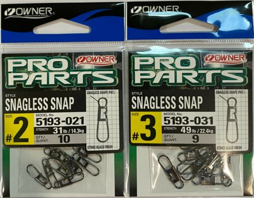 Choose Size Owner Snagless Snap 5193 Strike Black Finish