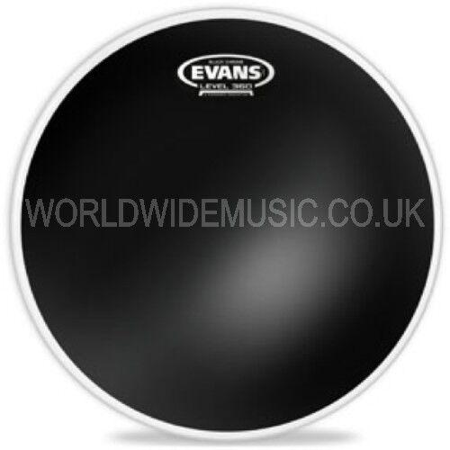 """TT12CHR Evans 12/"""" Black Chrome Tom Tom Drum Batter Head"""