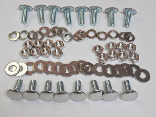 16 pack Mopar Bumper Bolts Nuts Locks /& Flat Washers Stainless Capped