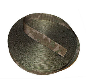38mm Double Sided MTP /Multicam Camouflage Military Spec Webbing - UK Woven NEW