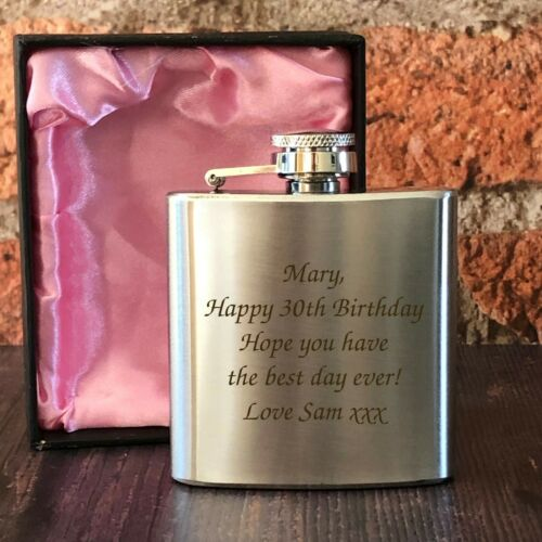 Personalised Engraved Hip Flasks For Women Birthday Gifts Ideas 18th 21st 30th