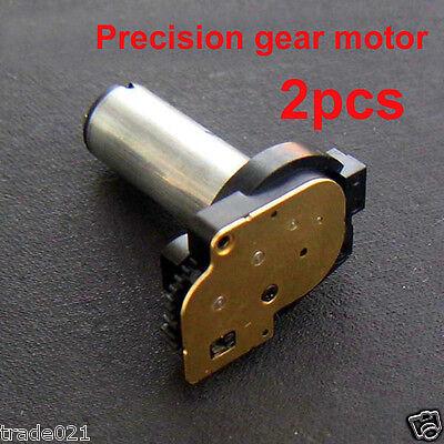 2pcs DC 3v~5v Small Gear Motor Mini Gearmotor Reduce Gear Box Wheel