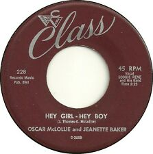 HEY GIRL- HEY BOY Oscar McLollie and Jeanette Baker *HOT R 'n' B jIVER*