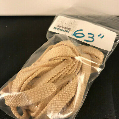 """63/"""" FLAT Replacement Shoe laces LIGHT BEIGE BRAIDED"""