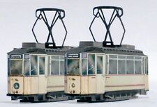 StraßenbahnModell Kartonbausatz 2 LindnerTW  14 u.17 Naumburg Maßstab 1:87 - H0m