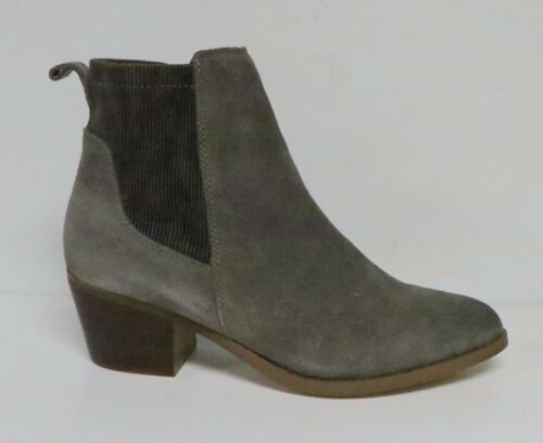 "VERY VOLATILE RAYA WOMEN/'S CHELSEA ANKLE BOOTS TAUPE SUEDE 2/"" HEEL ALMOND TOE"