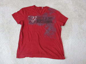 50c131599353 Guess Jeans USA Shirt Size Adult Large Red Black Spell Out ASAP Mens ...