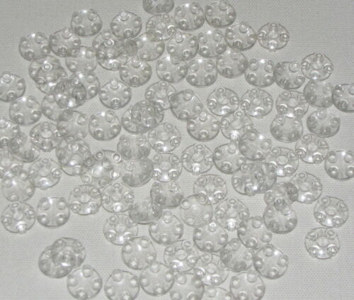 Lego Lot of 100 New Trans-Clear Plates Round 2 x 2 w// Rounded Bottom Boat Studs