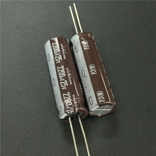 5pcs//50pcs 25V 2200uF 25V NICHICON PJ 12.5x40 Low Impedance Long Life Capacitor