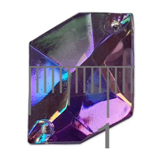 13x16mm Rombo ab cose en resina Strass Disfraz Adornos Gemas 20 un