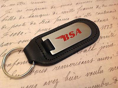 Painstaking Bsa Schlüsselanhänger Geätzte Und Gefüllt Auf Leder