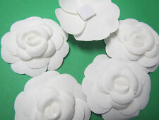10     x     Chanel    WHITE   Camellia FLOWER  for making a pin or brooch NEW