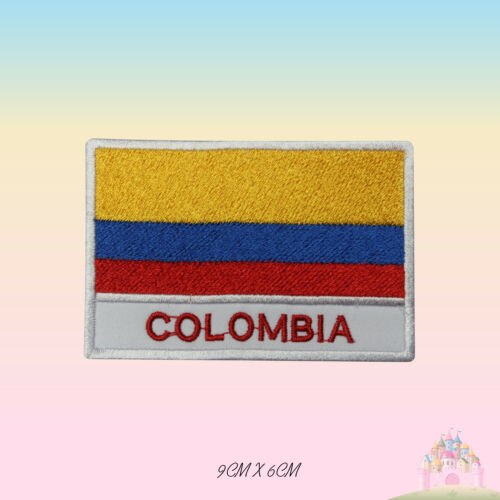 Colombia National Flag With Name Embroidered Iron On Patch Sew On Badge Applique
