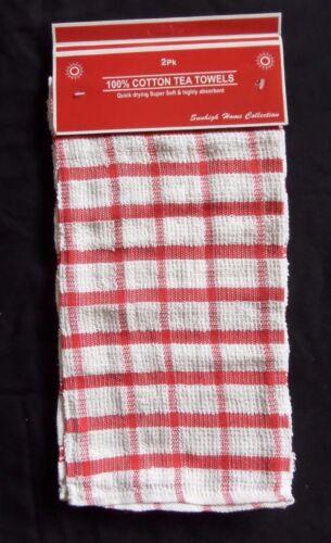 Pack De 2 100/% Coton Style Classique Cuisine Torchons