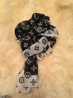Beautiful Ladies Made In Italy Polyester Long Scarf 15 X 62 Black