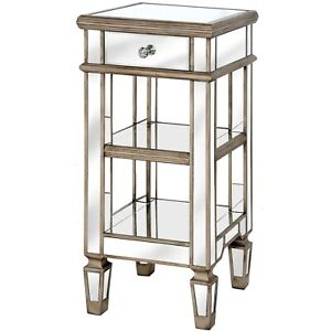 The Belfry Collection One Drawer Mirrored Cocktail Table Stunning Decoration .