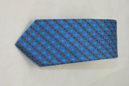 Ted Baker London men/'s Skinny Medallion  blue//Orange tie $95
