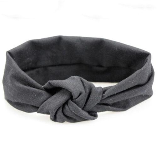 Baby Knoten Stirnband gestrickte Baumwolle Kinder elastische Headwear Stirnband