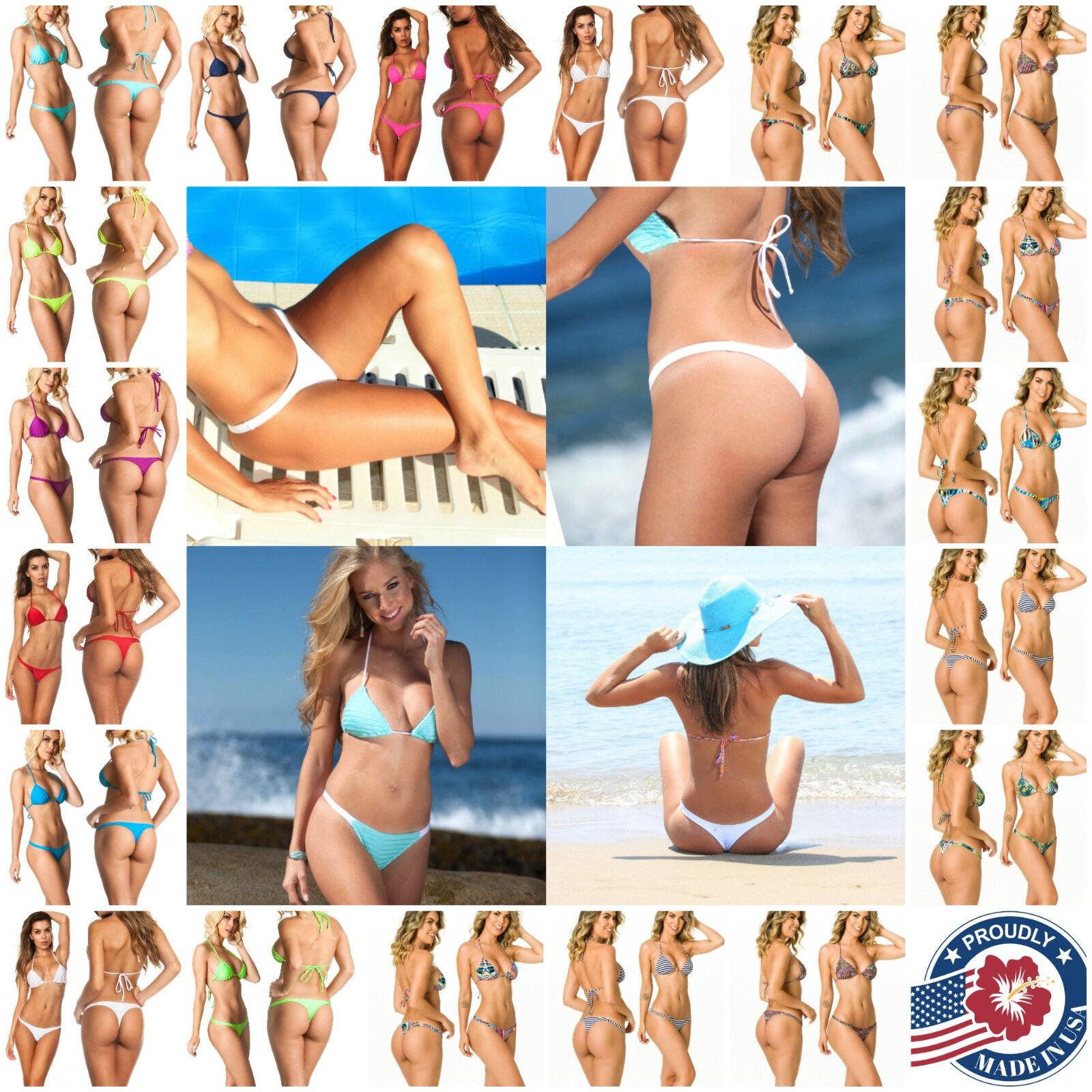 Coqueta Sexy Set Teeny Mini Women s Brazilian Bikini Thong Swimwear NEW PRINTS