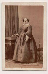 Vintage-CDV-Albumen-Unidentified-1800-039-s-Woman