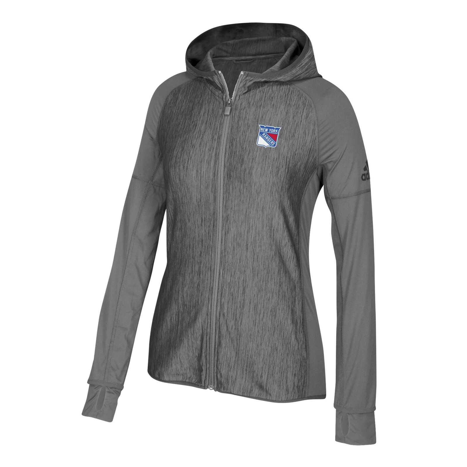 0ddae3ab230 New York Rangers adidas Womens Vertical Heathered Heathered Heathered Full  Zip Hoodie XL 06a652