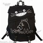 Ghibli Cartoon My Neighbor Totoro Black Backpack Shoulder Bag Cosplay Cute