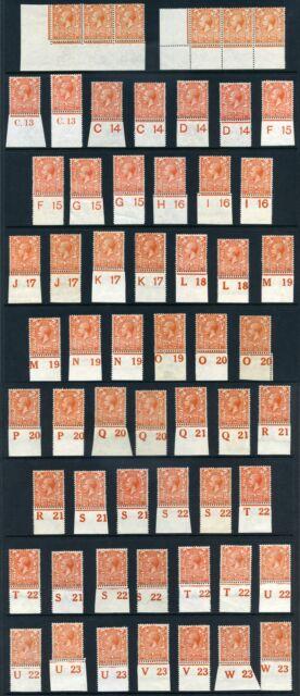 1912-24 KGV Royal Cypher 2d (Die I and Die II) Control Singles S.G. 368 & 370