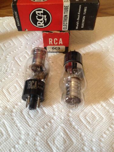 *** RAYTHEON//RCA//SYLVANIA  OC3 ELECTRON TUBES 1PAIR