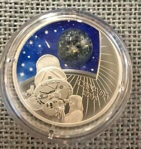 2016 $20 The Universe Glow-in-the-Dark Glass with Opal Pure Silver Color Proof