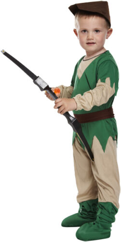 RAGAZZI Ragazze Bambini Bambino Robin Hood Libro Giorno Costume Vestito 3 ANNI