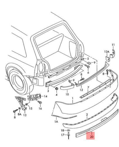 Genuine Insert Piece AUDI A3 S3 Sportback  8L98073417DL