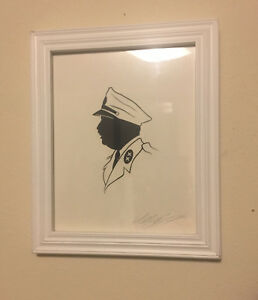Olly Moss Signed Great Dictator Paper Cut Silhouette Charlie Chaplin
