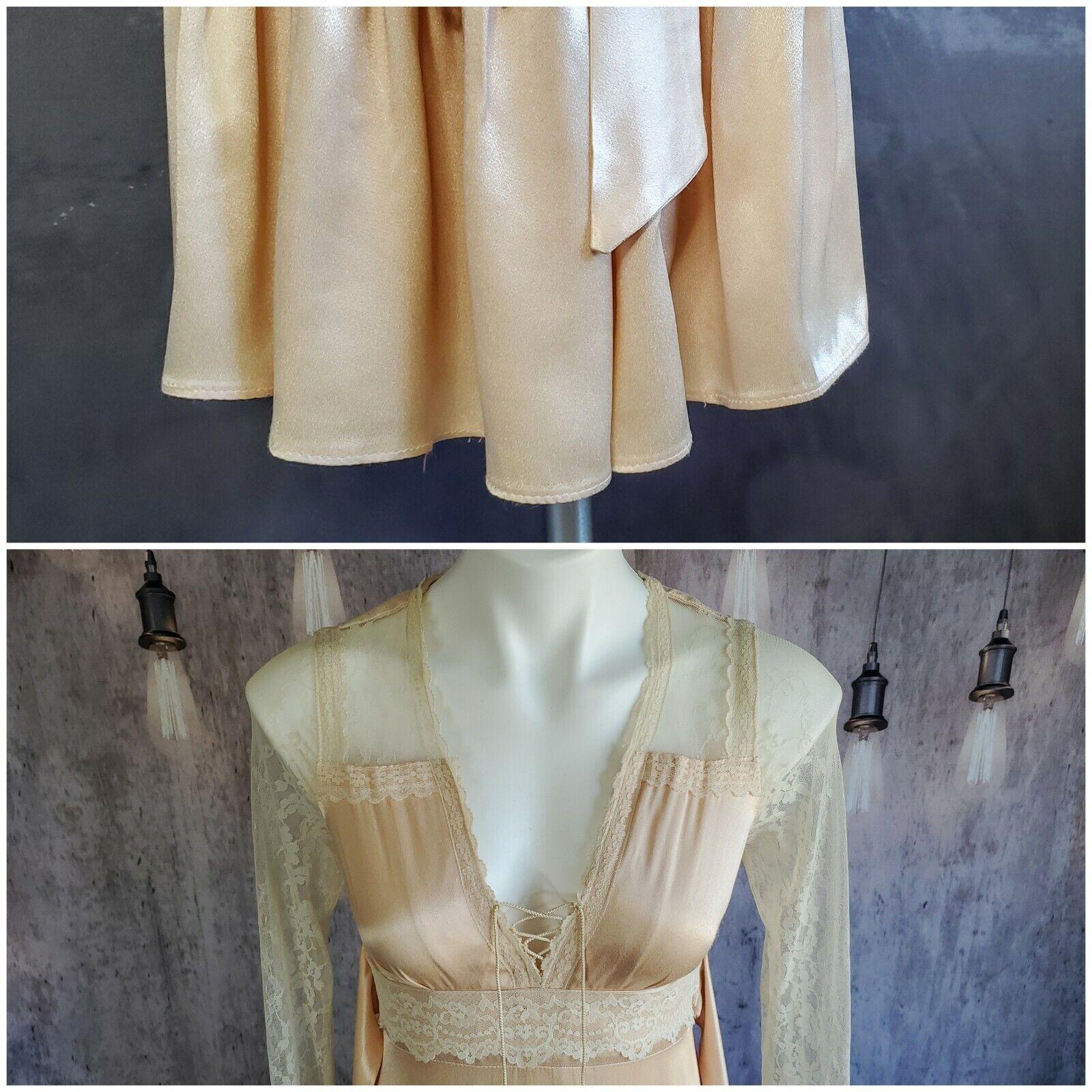Gunne Sax satin beauty prairie 1970s dress - image 2