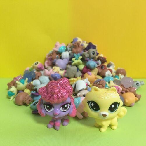 Yellow /& Red Dog Figure 10pcs Littlest Pet Shop LPS Mini Baby Toy Send Random