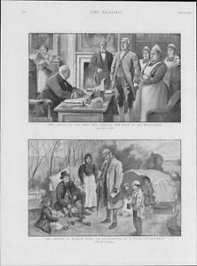 1901-Antique-Print-ENGLAND-CENSUS-Enumerators-Gypsy-Camp-London-House-261