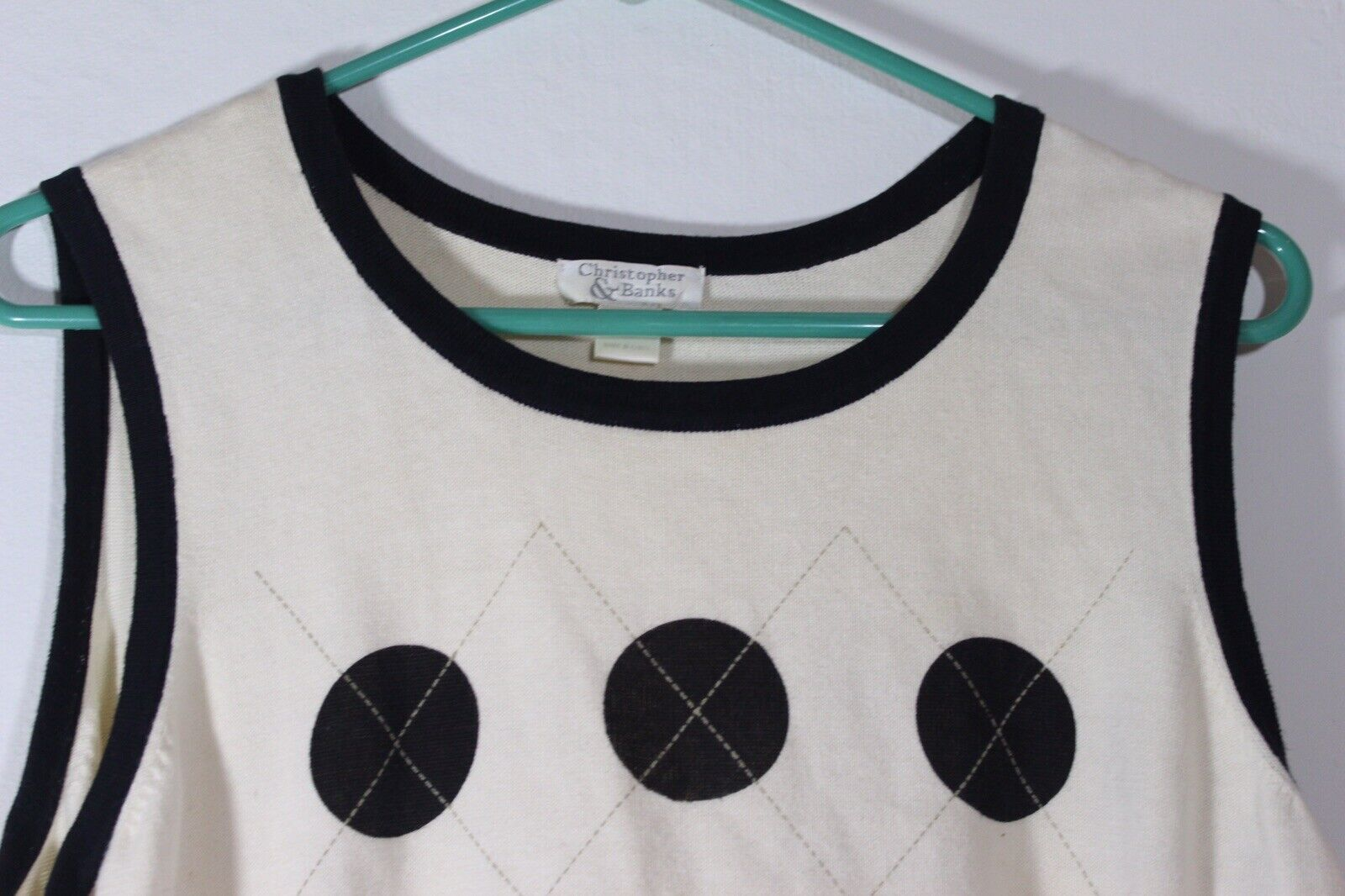 Christopher & Banks Womens Cream Sleeveless Shirt… - image 2