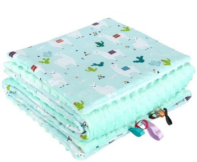 First Steps Nerz Sherpa Zweiseitg Babydecke 70x100 cm FS543 Baby-Dusche Geschenk