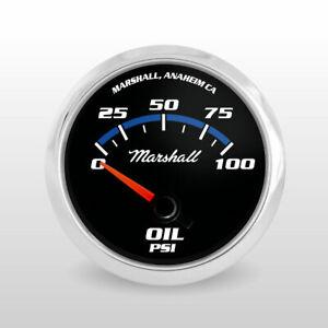 Marshall-C2-Blueline-Oil-Pressure-Gauge-Electric-Stainless-Bezel-2133SS