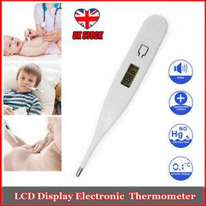 Digital-LCD-Medico-Thermometer-Boca-Axila-Bebe-Ninos-Temperatura-Corporal-ayuda-UK