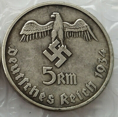 Germany Exonumia Coin #8 Free Coins 1934 Hitler