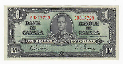 1937 Bank Of Canada $1 Gordon/towers Signature W/l0317729 High Standard In Quality And Hygiene S/n