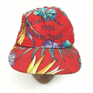 VINTAGE Tropical Storm Alberto Hat Cap Red Gulf Power Storm Team 1994 USA MADE