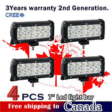 4x 36W 7inch CREE LED Light Bar Work Off Road Truck Boat Driving Jeep Ford ATV